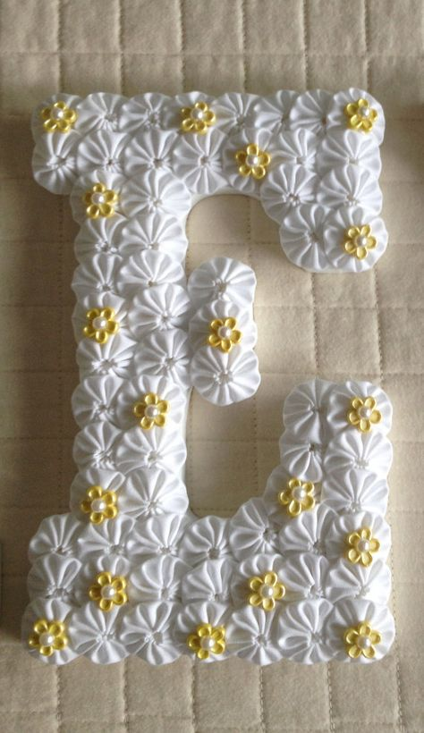 Custom Wood Letters Baby Name or Initial by EmbellishMeCreations