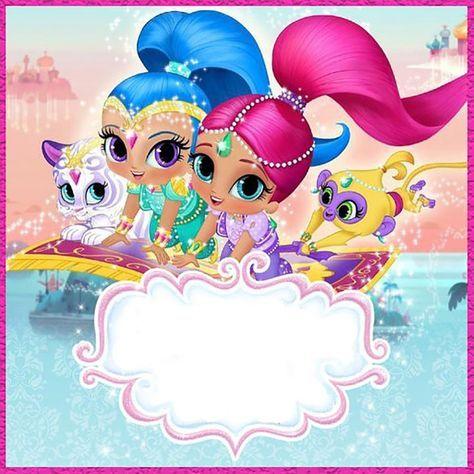 Shimmer And Shine Invitation Template Shimmer And Shine Characters Shimmer N Shine Shimmer And Shine Cake