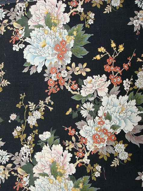 I'm really inspired by black floral prints at the moment
