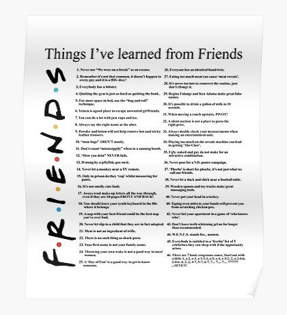 Friends Posters Friends Poster Poster Learning