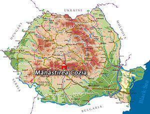 Harta Romania Manastirea Cozia Reizen