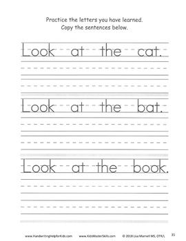 First Grade Handwriting Start Sentences Workbook With Images