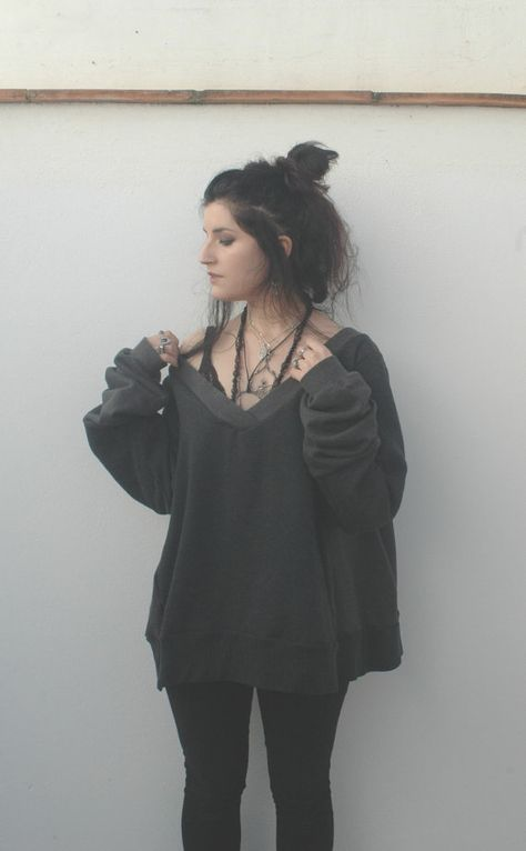 NEW FOR SPRING // nebula // slouchy v-neck sweater by raintower