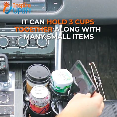 Auto-Mug Storage Organizer 😍  Add instant storage space in and around your car's existing cup holder with our Auto-Mug Storage Organizer! There's plenty of room for holding your cup, water-bottle, phone and so much more!  Currently 50% OFF with FREE Shipping!