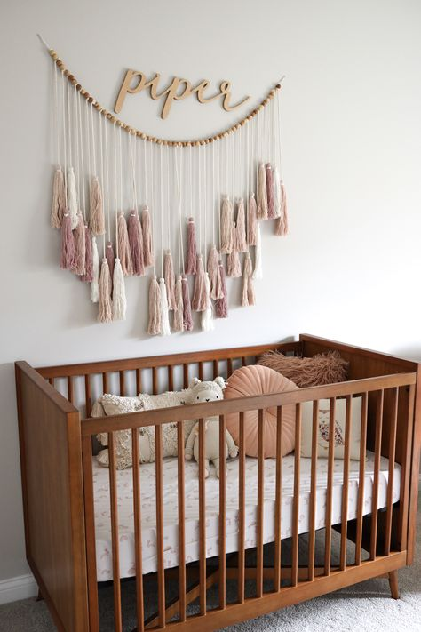 Mix of textures and dusty pink tones for baby Piper's cozy boho nursery Rose Nursery, Elephant Nursery, Nursery Neutral, Nursery Room, Nursery Decor, Neutral Nurseries, Bedroom, Diy Design, Boho Baby