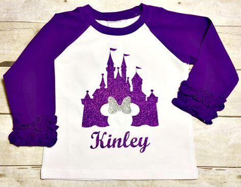 Kids T-Shirt Purple Castle Disney