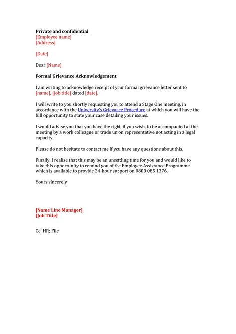 Editable Grievance Letters Tips Free Samples ᐅ Template Lab With