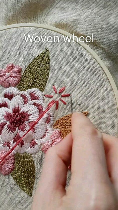 Woven wheel Hand embroidery