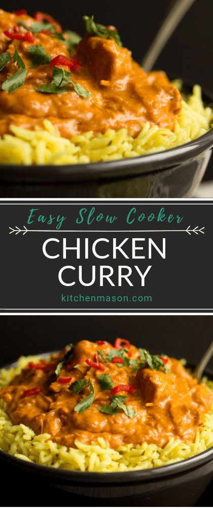 This incredibly easy slow cooker chicken curry recipe is a perfect family dinner. No precooking required, it's ideal for time saving and makes minimal pots to wash! Click through to see for yourself. #slowcookerchickencurry #chickencurry #slowcookerrecipes #easydinnerrecipes