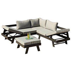 Ribelli Lounge Set Aluminium Manrali Alu Loungeset 3 Teilig