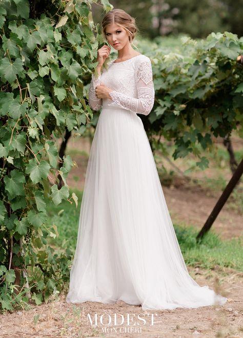 Lace Top Wedding Gowns, Boho Wedding Dress With Sleeves, Mon Cheri Wedding Dresses, Western Wedding Dresses, Wedding Dresses For Girls, Perfect Wedding Dress, Designer Wedding Dresses, Bridal Dresses, Mormon Wedding Dresses
