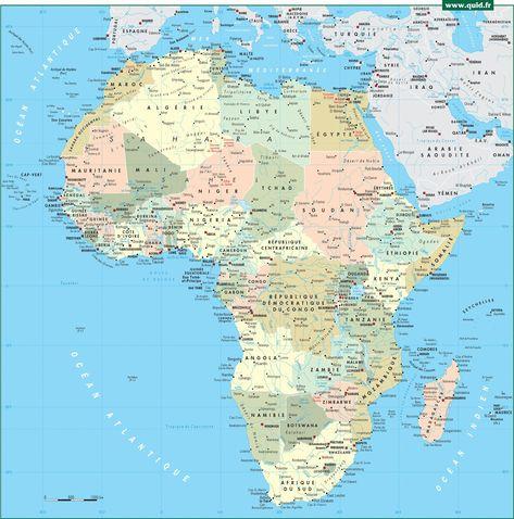 Carte De Lafrique Map.Pinterest Espana