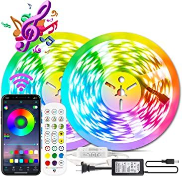LED Strip Lights,65.6ft//20m Smart Led Lights SMD 5050 RGB Color 65.6FT//20M