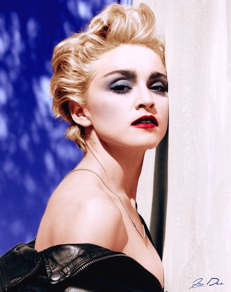 Madonna photographed by Herb Ritts for the True Blue album, 1986.