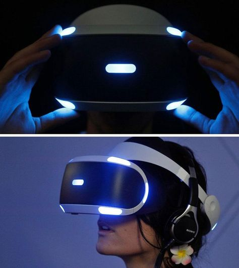 The Sony PlayStation VR headset http://mashable.com/2015/12/30/virtual-reality-in-2016/?utm_cid=mash-com-pin-link
