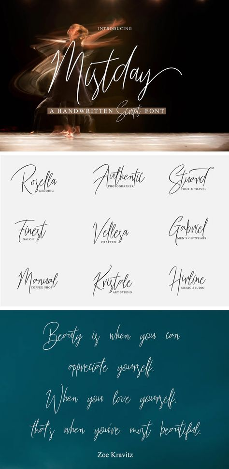Mistday Script - Modern Handwritten Font