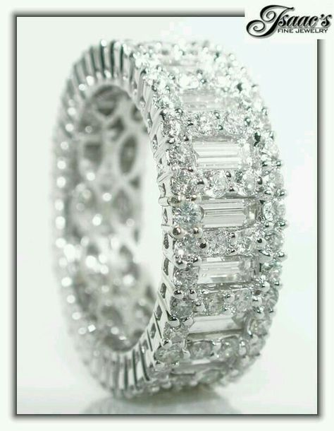 Certified 7.00Ct Emerald Cut Diamond Eternity Band 14K White Gold Anniversary