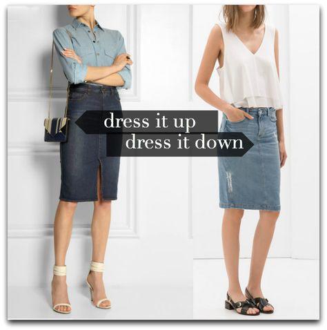 The Denim Pencil Skirt, Something To Reconsider
