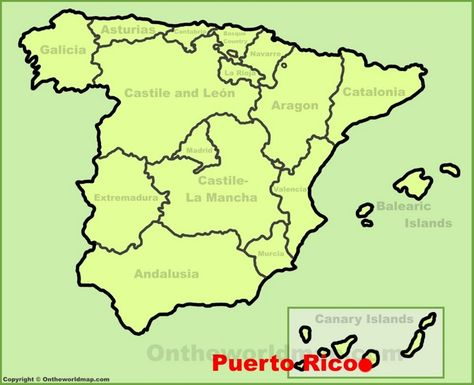 Puerto Rico De Gran Canaria Location On The Spain Map Kort