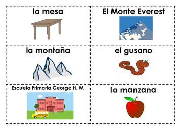 Sustantivos Propios Y Comunes En Espanol Common Nouns Sorting Cards Nouns