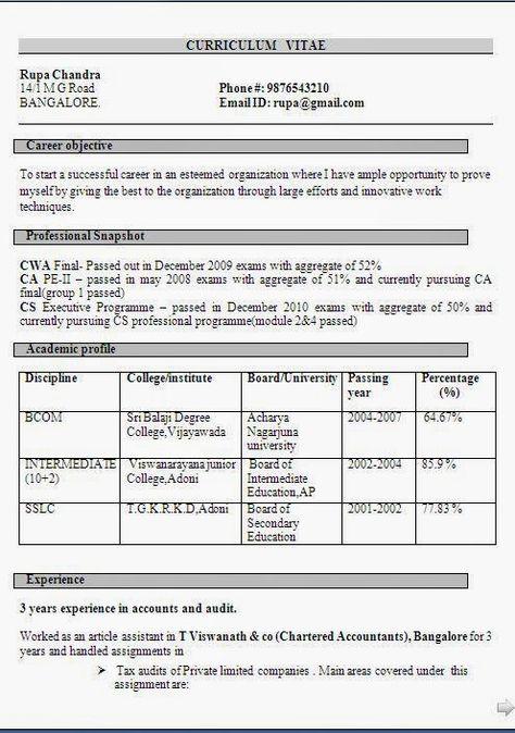 curriculum vitae scarica gratis Sample Template Example - resume format for banking jobs