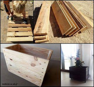 Dekoracyjna Drewniana Skrzynka Z Palet Diy Wood Crafts