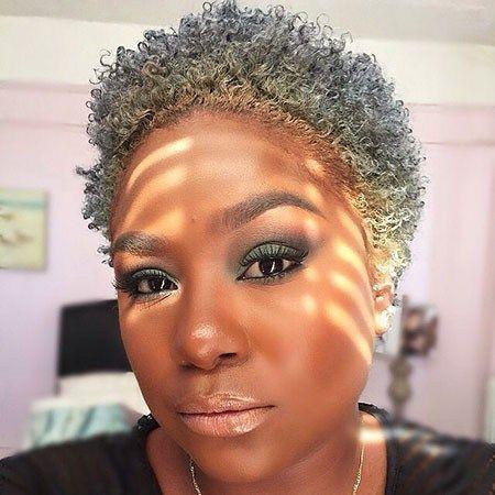 Short Natural Hairstyles With Color Natural Gray Hair Short