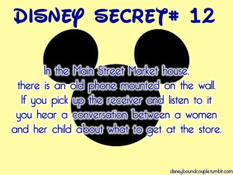 Totally checking this out next time! Love disney secrets! ❤️✌️