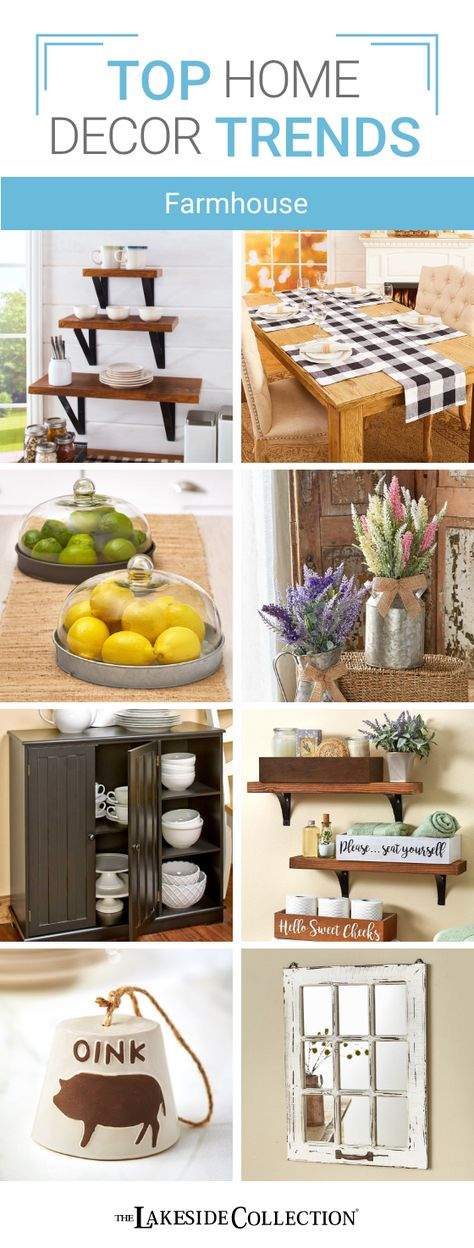 Let us help you design your spaces. You'll find all the latest trends in decorating at Lakeside, plus with Lakeside's values, you can afford to give a fresh look to every room in your home! This week, we're featuring the Farmhouse aesthetics. You're bound to be inspired and find something you love at The Lakeside Collection.