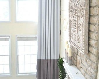Extra Long Natural Linen Curtains Drapes Custom Made 10 12 13 Etsy In 2020 Long Curtains Living Room Extra Long Curtains Window Treatments Living Room