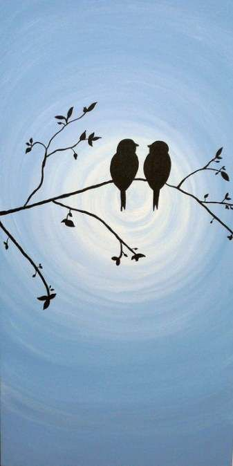 60 Ideas Painting Ideas Easy Beginner Love Shadow Painting Silhouette Art Canvas Painting
