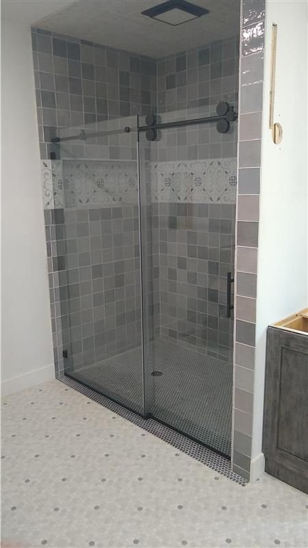 Barn Style Slider Series In 2020 Bathroom Layout Bathrooms Remodel Sliding Shower Door
