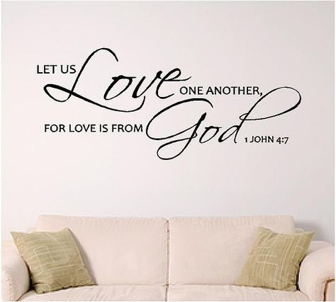 bible verse wall art Love by SignGuysAndGal on Etsy