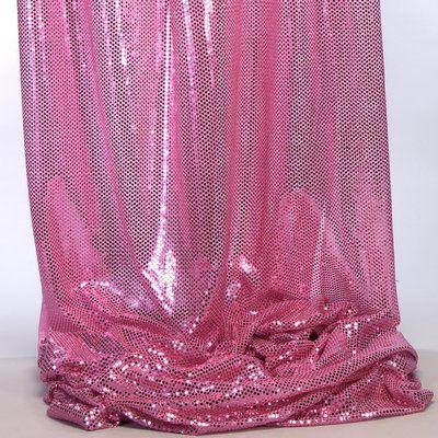 Bala Shiny Spangle Knit Fabric Spangle Fabric Pink