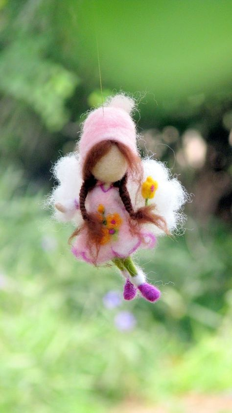 Fairy gift Needle felted ornament Waldorf fairy ornament Home decoration   Fairy doll Fairy decor