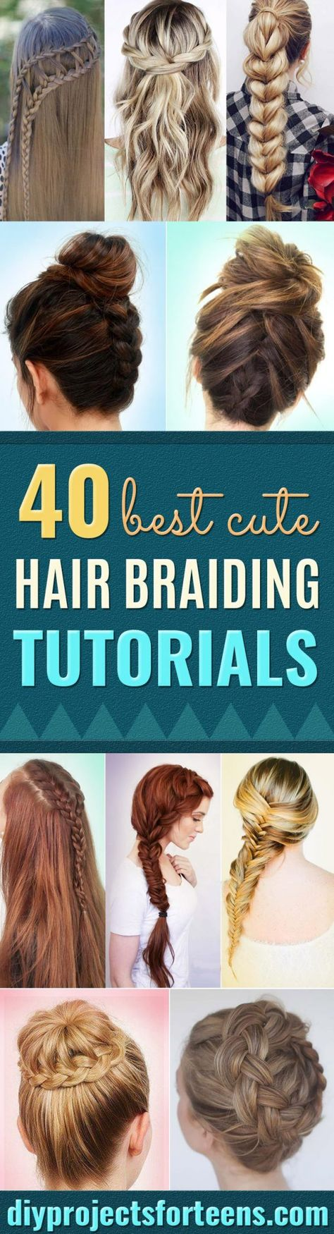cute hair braiding tutorials step by step #hairstyles