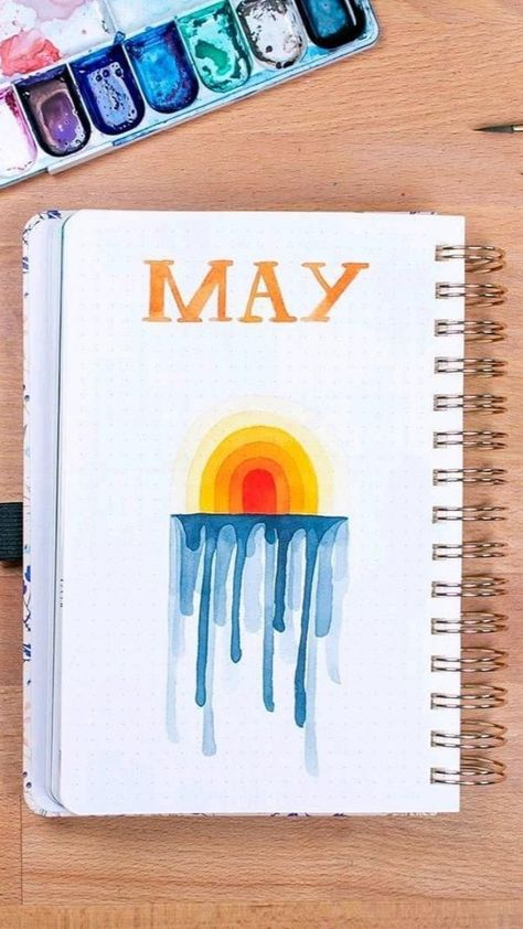 Sunny Side Up Bullet Journal Monthly Spread