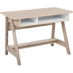 Schreibtisch Heller Holzfarbton Weiss 110 X 60 Cm Jackson Belianibeliani Holz Schreibtisch Hohe Und Modernes Design