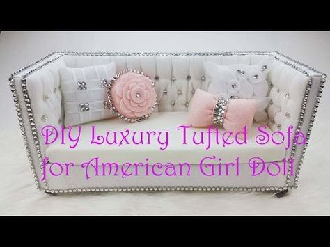 How To Make A Doll Armchair For Barbie Monster High Mlp Eah Etc Youtube Doll Furniture Diy American Girl Doll Furniture American Girl Doll Crafts