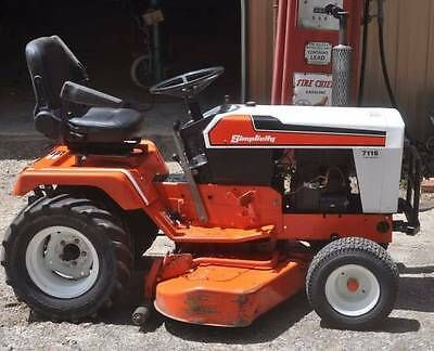1980 S Simplicity Garden Tractor Mower Model 7116 Hydrostatic Pick Up Only Garden Tractors For Sale Tractor Mower Garden Tractor