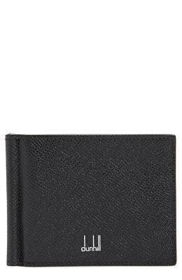 d0d87ce77eba DUNHILL Designer Leather Card Case with Money Clip | Men ...