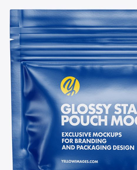 Download Glossy Stand Up Pouch Mockup In Pouch Mockups On Yellow Images Object Mockups In 2021 Mockup Pouch Creative Words