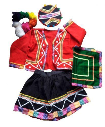 Peruanisches Trachten Kostum Madchen Folklore Tracht Kind Mode