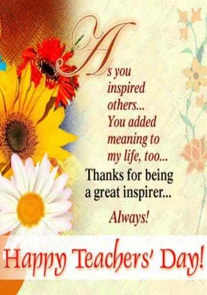 26 Ideas For Birthday Wishes For Teacher Cards Happy Teachers Day Wishes Happy Teachers Day Teachers Day Wishes