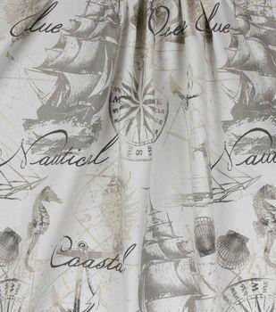 Home Essentials Print Fabric 45 Natural Sailsea Fabric Decor