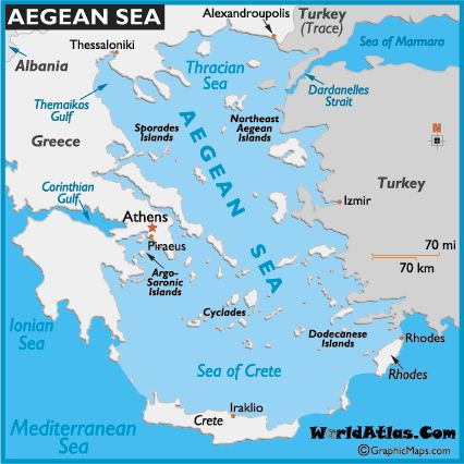 Map Of Aegean Sea World Seas Aegean Map Location World Atlas