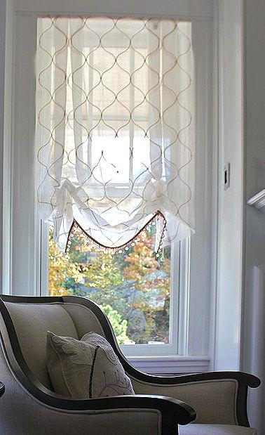 Beautiful Sheer Shades Diy Window Treatments Kitchen Window