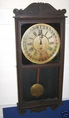 Wm Gilbert Observatory Tall Case Cl0ck At Auction With A Low Reserve In Case Of Ebay Down Time Is An Antique Early 1900 S Clock Antique Wall Clock Home Clock