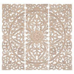 One Allium Way 3 Piece Wood Plaque Wall Décor Set & Reviews   Wayfair