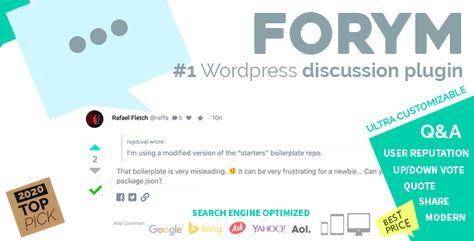 Forym – Modern Discussion Forum for WordPress | Codelib App